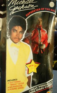 1984 Michael Jackson Doll LJN MJJ NIB Free US SHIP Beat It Outfit
