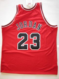 Michael Jordan Signed Chicago Bulls Jersey Mitchell and Ness 97 UDA