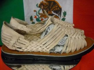 New Leather Mexican Sandal Natural Huarache Men Size 12