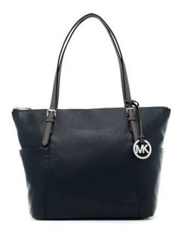 Michael Michael Kors Jet Set Leather Tote Black