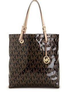 Michael Kors Handbag Holiday Jet Set North South Tote black gold