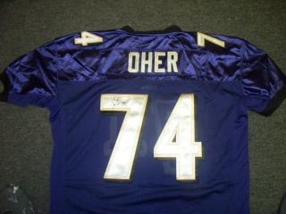 Michael Oher Baltimore Ravens Signed Jersey COA The Blind Side