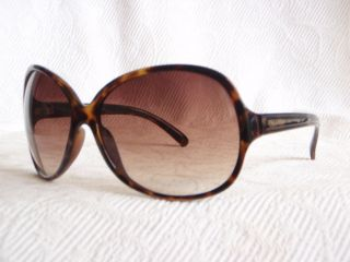 Authentic Calvin Klein R601S Black Brown Womans Oversized Sunglasses