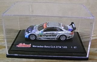 WWGU102 Schuco Die Cast Metal Mercedes Benz CLK DTM Model 1 87 HO