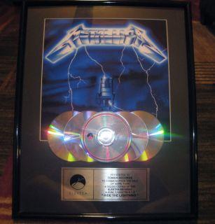 Metallica Ride The Lightning CD LP Award MUST SEE RIAA Hetfield
