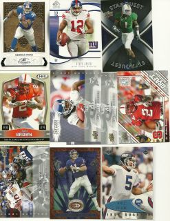 card Lot Eli Manning Ward Michael Strahan Jersey, Smith Andre Brown RC