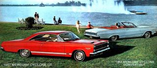 1967 Mercury Cyclone GT and Convertible Magnet