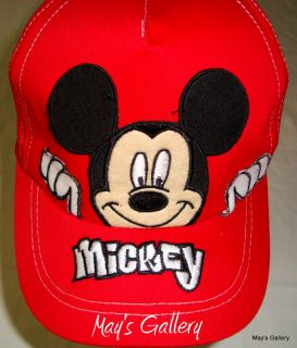 Disney Mickey Mouse Baseball Cap Hat Adjustable
