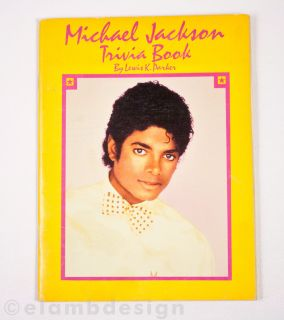 Vintage 1984 Michael Jackson Trivia Book paperback Lewis Parker Weekly