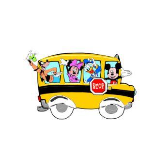 Disney Mickey School Bus Iron on Transfer 3 Sizes