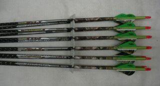 Easton St Axis Full Metal Jacket Arrows 340 w Blazer Vanes Camo Wraps