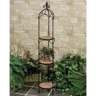 3 tier wood plant stand on popscreen. Black Bedroom Furniture Sets. Home Design Ideas