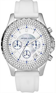 New Michael Kors Ladies White Silicone Watch MK5389