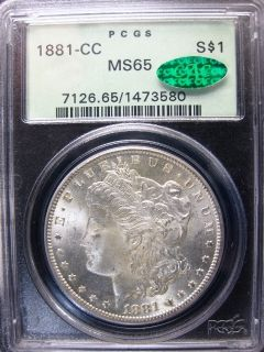 1881 CC Morgan Silver Dollar PCGS MS65 OGH CAC Upgrade