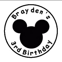 108 Mickey Mouse Birthday Shower Candy Kiss Favor Label Personalized