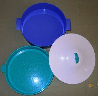 Tupperware Large 3 Piece Microwave Steamer