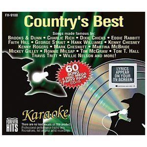 Disc Willie Nelson Mickey Gilley Brad Paisley Country Karaoke CDG CD