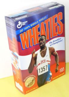 Olympic Champion Runner Michael Johnson Wheaties Box