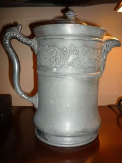 Middletown Silver Plate Co Large Ornate Water Pitcher