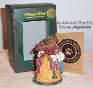 Michael Jinglebeary Ornament 1st Christmas Bell Bear