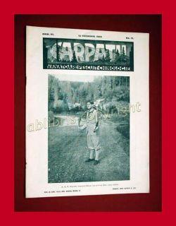 1935 Carpatii Hunting Magazine Romania Carol Mihai