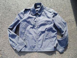 US Navy Cold War Vintage Work Wear Blue Jacket