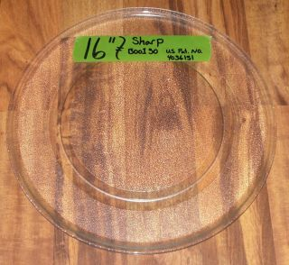 16 Glass Microwave Oven Turntable Plate Tray ~ Sharp ~ Patent number
