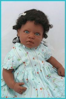 Lee Middleton Reborn Baby Doll African American Girl