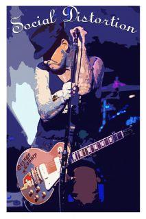 Social Distortion Mike Ness Art Poster Rock Punk Legend