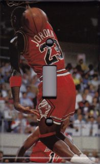 Michael Jordan Light Switch Cover Plate Chicago Bulls