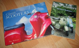 VESPA CLASSIC MOTOR SCOOTERS BOOK MOD SKINHEAD SCOOTERBOY MIKE WEBSTER
