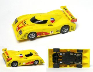 2010 Micro Scalextric Slot Car LeMans IMSA 7 Moto Sonax Race Set Only