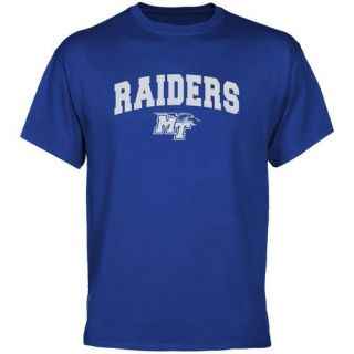 Middle Tennessee State Blue Raiders Royal Blue Logo Arch T Shirt