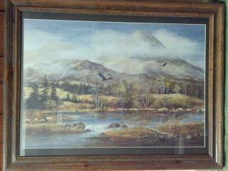 Fred Leach AWS DF Eagles River Landscape Lithograph