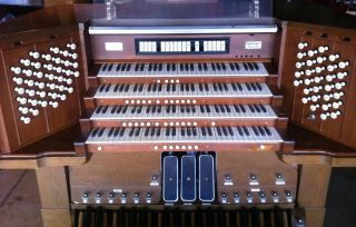 MIDI Church Organ Console for Hauptwerk 4 Manual Möller Console