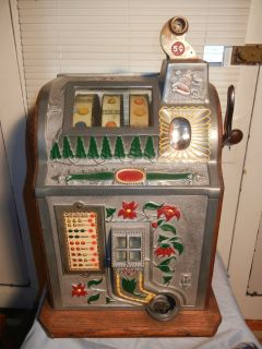 Mills Slot Machine Poinsettia 1930 5 Cent