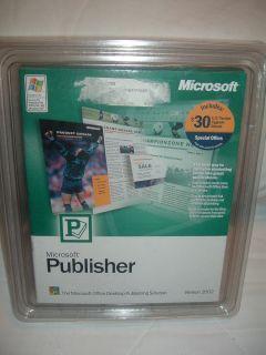 New in Box Microsoft MS Office Publisher 2002 Full Version Desktop