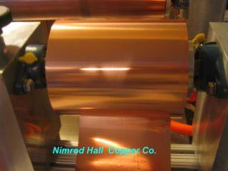 Nimrod Hall Copper Foil Sheet 5 Mil x 6 x 5 Roll CU 110 ASTM B 152 3