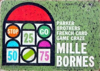 MILLE BORNES Car Racing Board CARD GAME Touring One Thousand
