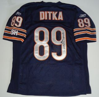 Mike Ditka Signed Chicago Bears Blue Jersey w COA 1A