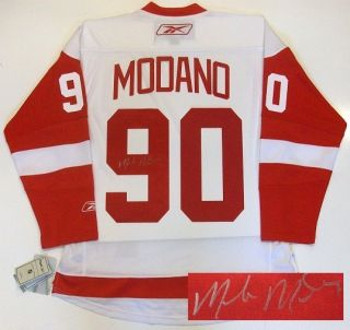 Mike Modano Detroit Red Wings Signed Jersey RBK Wht