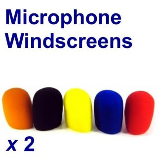 10 Mic Assorted Color Windscreens Microphone Covers