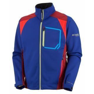 Mens Columbia Three Key Soft Shell Jacket $160 Navy Blue Large Omni