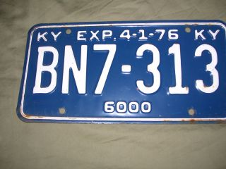 Vintage Kentucky Steel Truck License Plate Great Shape