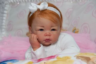 Amazing Reborn baby doll its a girl luca by Elly Knoops sweet newborn