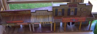 Vintage Marx Roy Rogers Mineral City Play set Building Great Condition