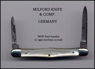 VIN MILFORD KNIFE & COMP GERMANY PEARL SWELL CENTER EQUAL END TUXEDO