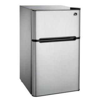 cu ft 2 Door Refrigerator Freezer Stainless Steel Compact Mini Room