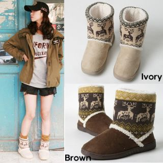 New Arrival Suede Wool Winter Snow Ivory Brown Women Boots