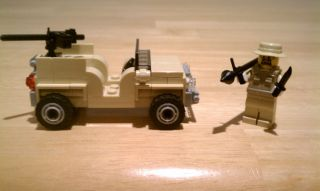 Soldier Lot w Jeep Navy Military Minifigure City Minifig SWAT